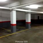 Presupuesto pintura parking rojo gris