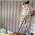 Papel de pared en piso